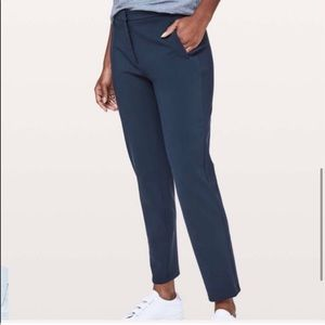 Lululemon Navy Blue On the Move Trousers
